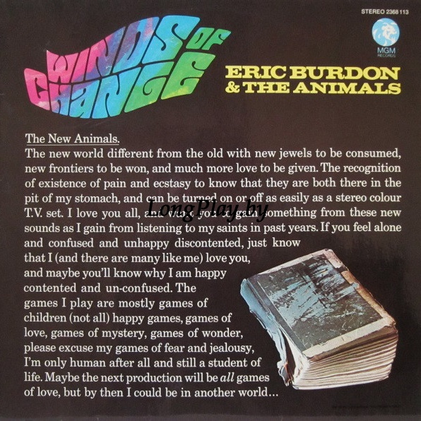 Eric Burdon & The Animals ‎ - Winds Of Change